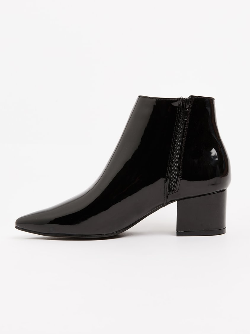 free shipping how much for sale finishline Polini Patent Booties Black FOOTWORK D9CRKkV